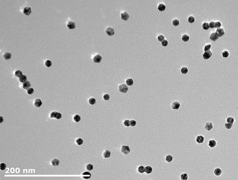 200nm scale gold nanoparticles